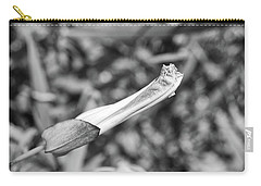 Bud In Black And White Carry-all Pouch