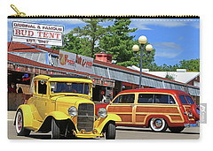 Carry-all Pouch featuring the photograph Bud Tent Hot Rods by Christopher McKenzie