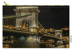 Carry-all Pouch featuring the photograph Budapest Chain Bridge by Steven Sparks