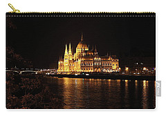 Carry-all Pouch featuring the digital art Budapest - Parliament by Pat Speirs