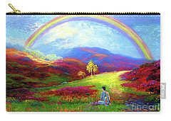 Buddha Chakra Rainbow Meditation Carry-all Pouch by Jane Small