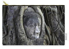 Buddha Head In Tree Carry-all Pouch by Adrian Evans