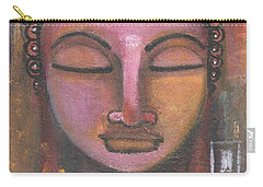 Buddha In Shades Of Purple Carry-all Pouch