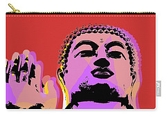 Carry-all Pouch featuring the digital art Buddha Pop Art  by Jean luc Comperat