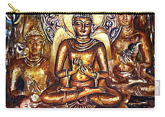 Buddha Reflections Carry-all Pouch by Harsh Malik