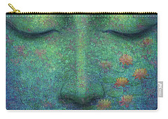 Buddha Smile Carry-all Pouch by Sue Halstenberg