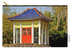 Buddha Temple Carry-all Pouch by Helen Haw