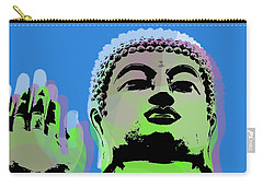 Carry-all Pouch featuring the digital art Buddha Warhol Style by Jean luc Comperat