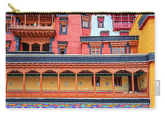 Carry-all Pouch featuring the photograph Buddhist Monastery Building by Alexey Stiop