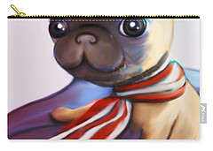 Buddy The Pug Carry-all Pouch by Catia Cho