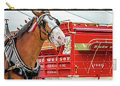 Budweiser Clydesdale In Full Dress Carry-all Pouch