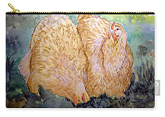 Buff Orpington Hens In The Garden Carry-all Pouch