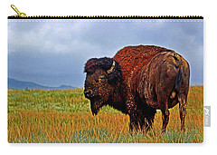 Carry-all Pouch featuring the photograph Buffalo 006 by George Bostian
