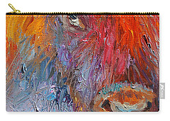 Buffalo Bison Wild Life Oil Painting Print Carry-all Pouch by Svetlana Novikova
