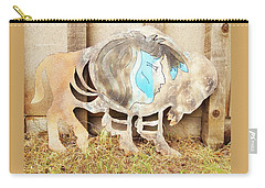 Carry-all Pouch featuring the photograph Buffalo Dreams by Larry Campbell