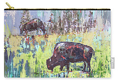 Buffalo Grazing Carry-all Pouch