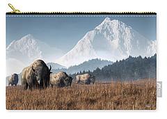 Buffalo Grazing Carry-all Pouch by Daniel Eskridge