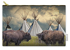 Buffalo Herd On The Reservation Carry-all Pouch