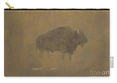 Buffalo In A Sandstorm Carry-all Pouch by Albert Bierstadt