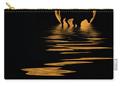 Buffalo In The Moonlight Carry-all Pouch