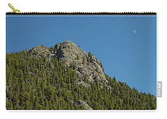 Carry-all Pouch featuring the photograph Buffalo Rock With Waxing Crescent Moon by James BO Insogna
