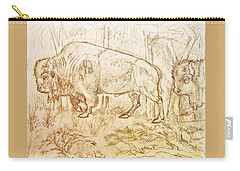 Buffalo Trail  Carry-all Pouch by Larry Campbell