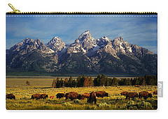Buffalo Under Tetons Carry-all Pouch
