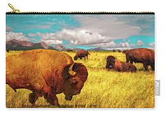 Buffalos On The Range Carry-all Pouch