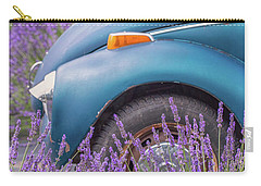 Carry-all Pouch featuring the photograph Bug In Lavender Field by Patricia Davidson