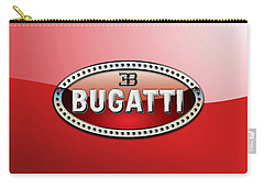 Bugatti - 3 D Badge On Red Carry-all Pouch