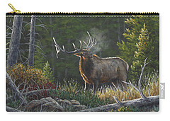 Carry-all Pouch featuring the painting Bugling Bull by Kim Lockman