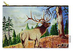 Bugling Elk Carry-all Pouch by Jimmy Smith
