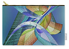 Carry-all Pouch featuring the digital art Building  2 by Iris Gelbart