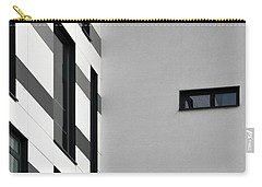 Carry-all Pouch featuring the photograph Building Block - Black And White by Wendy Wilton