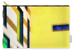 Carry-all Pouch featuring the digital art Building Block - Yellow by Wendy Wilton