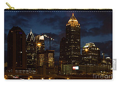 Carry-all Pouch featuring the photograph Building Boom Midtown Atlanta Construction Art by Reid Callaway