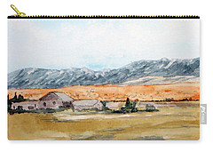 Buildings On A Colorado Ranch With Mountain Landscape Carry-all Pouch by R Kyllo