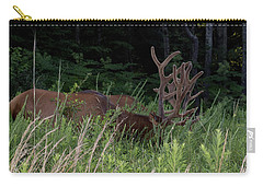 Bull Elk Grazing Carry-all Pouch