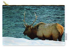Bull Elk In Winter Carry-all Pouch
