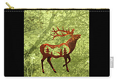 Carry-all Pouch featuring the photograph Bull Elk by Larry Campbell