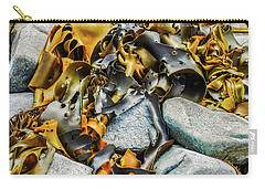 Bull Kelp On Blue Rocks Carry-all Pouch by Lexa Harpell
