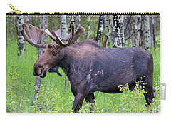 Bull Moose In The Wild Carry-all Pouch by John Roberts