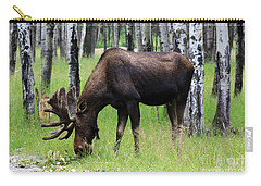 Bull Moose In The Woods  Carry-all Pouch