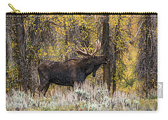 Carry-all Pouch featuring the photograph Bull Moose Talk by Yeates Photography