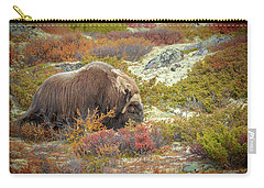 Bull Musk Ox Grazing Carry-all Pouch