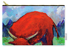 Bull On The River Carry-all Pouch by Maxim Komissarchik
