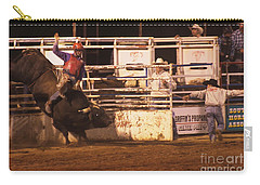 Bull Riding 2 Carry-all Pouch by Natalie Ortiz