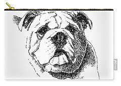 Bulldog-portrait-drawing Carry-all Pouch