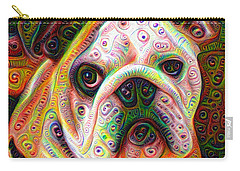 Bulldog Surreal Deep Dream Image Carry-all Pouch by Matthias Hauser