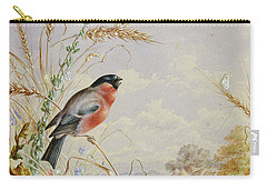 Bullfinches In A Harvest Field Carry-all Pouch by Harry Bright
